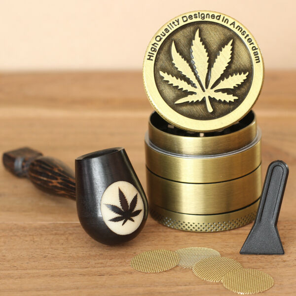 Plant Wood Pipe hand Carved smoking Pipe Tobacco Tagua Pot amp; 4pc herb grinder 4s $14.97