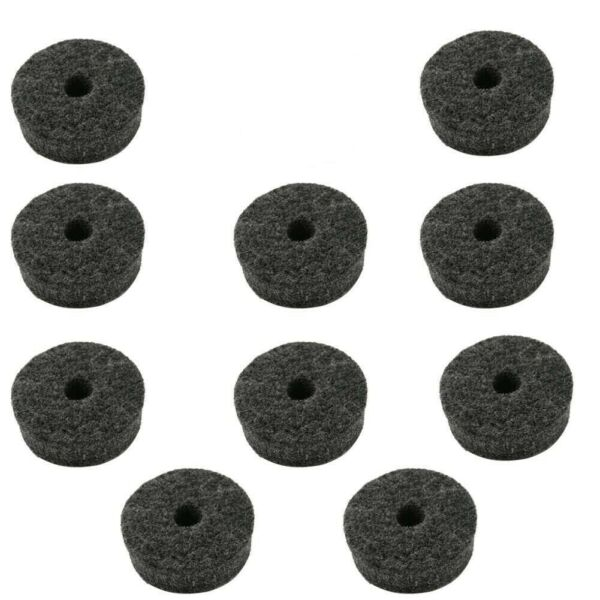 10 Cymbal Stand Felts 14mm Thick X 40MM Diameter US Stock