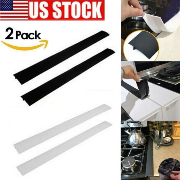 Kitchen Silicone Stove Counter Gap Cover Oven Guard Spill Seal Slit Filler US