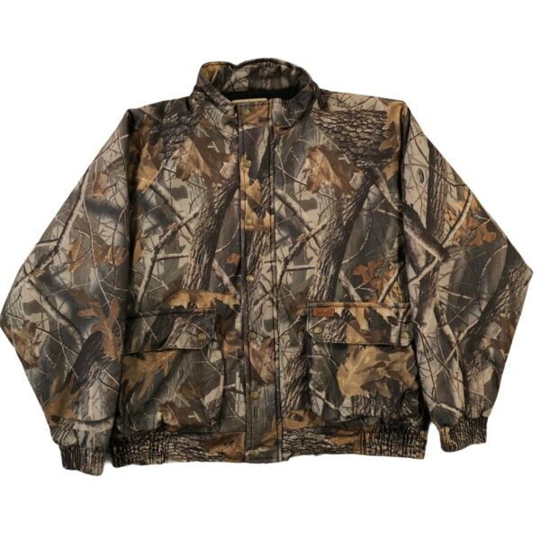 Vintage Woolrich Camouflage Hunting Jacket Mens XL Camo Outdoor Guide Realtree
