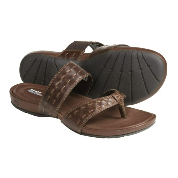 Timberland Pleasant Bay Women#x27;s Leather Thong Sandals $80 NIB