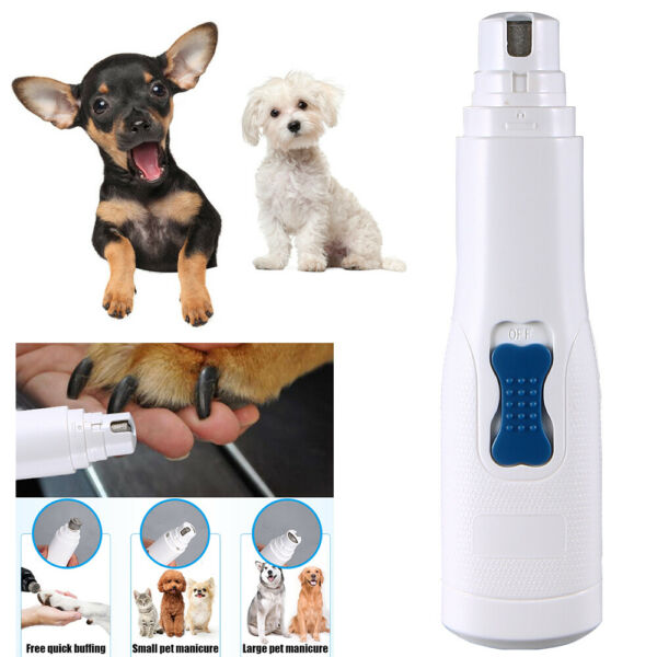 Electric Dog Paw Nail Grinder Clipper Trimmer Pet Cat Claw Toe Grooming Tool Set $10.85