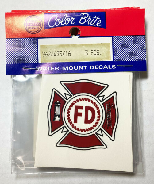 Ceramic Decals Fire Department EMT Rescue Water Mount Maltese Cross Lot of 18 $8.95