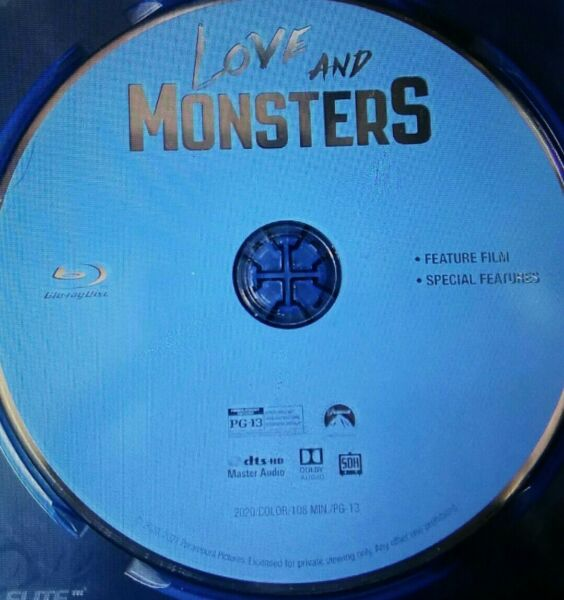 Love and Monsters 2020 Blu ray DISC ONLY. $11.98