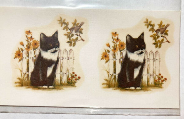 Ceramic Decals Kitten amp; Bird Vintage Design Water Mount Lot of 18 $7.60