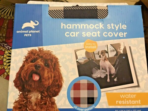 Deluxe Padded PlaidBench Hammock Car SUV Back Seat Cover Protector for Dogs. $35.00