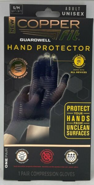Copper Fit Guardwell Gloves Full Finger Hand Protection Small NEW Factory Seal