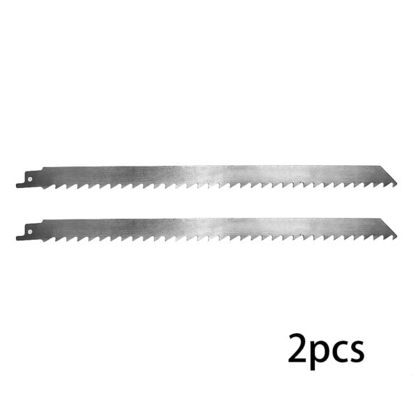 2 Pcs Stainless 300*19mm Reciprocating Cutting Tools For Cutting Iceamp;Frozen Meat
