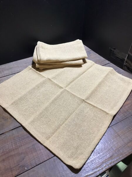 Set Of 4 **NEW** Burlap Napkins Park Designs