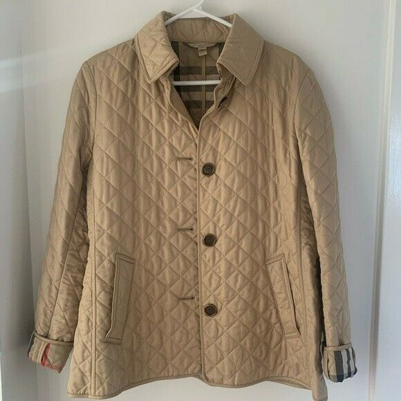 NWOT Burberry Women's Beige Quilted Check Jacket $400.00