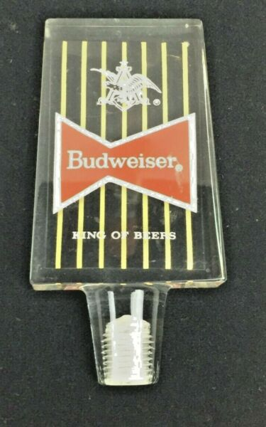 Budweiser Vintage Beer Tap Handle Acrylic Resin Approx. 4quot; Tall