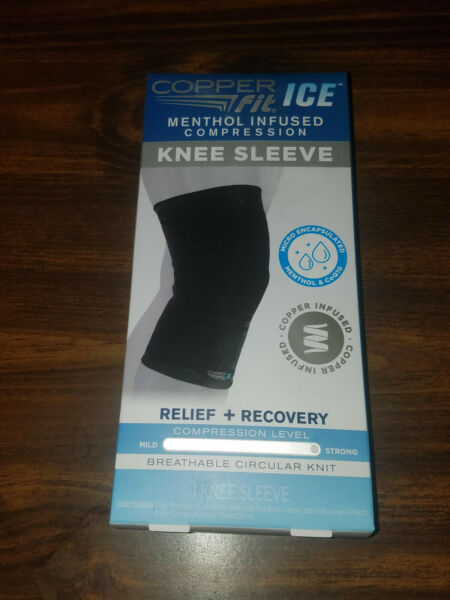 Copper Fit ICE menthol infused Compression Knee Sleeve size L XL 16quot; 20quot;