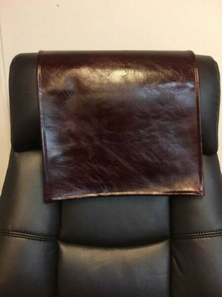 30x30 quot; BURGUNDY Ash distressed sofa head arm rest furniture recliner protector $41.99
