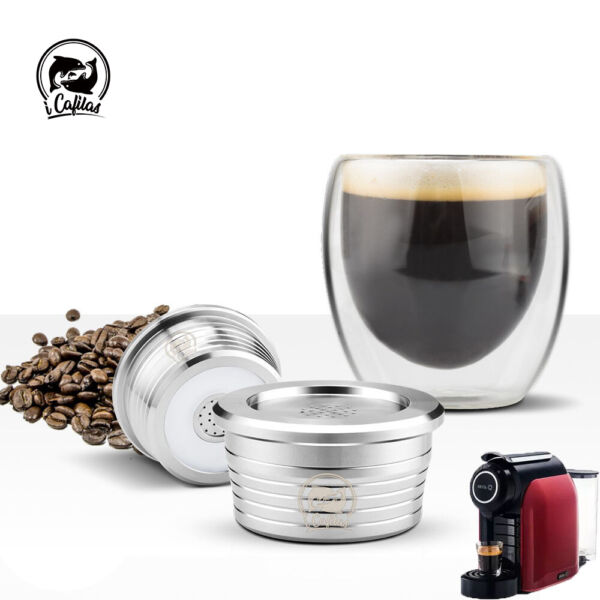 Stainless Coffee Filters For Delta Q NDIQ7323 Lavazza Point EP MINI Capsule Pod