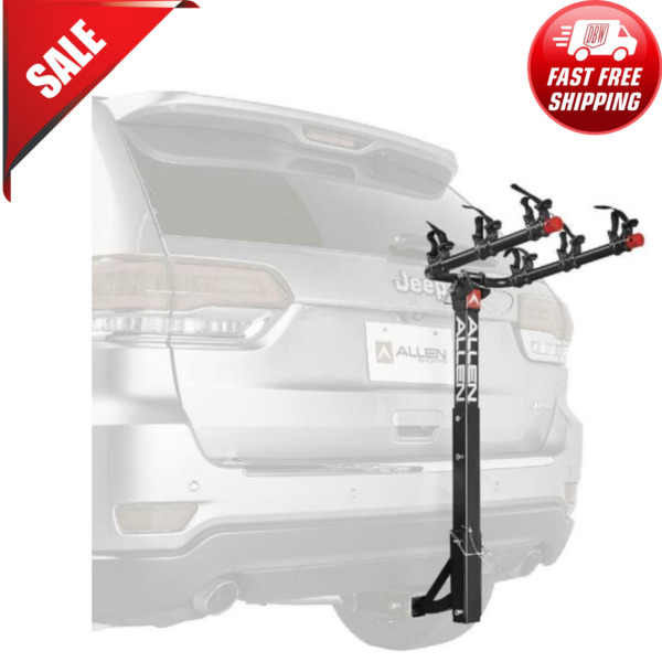 Deluxe 3 Bicycle Hitch Mounted Bike Rack 532RR Black Powder Coated Finish $238.99