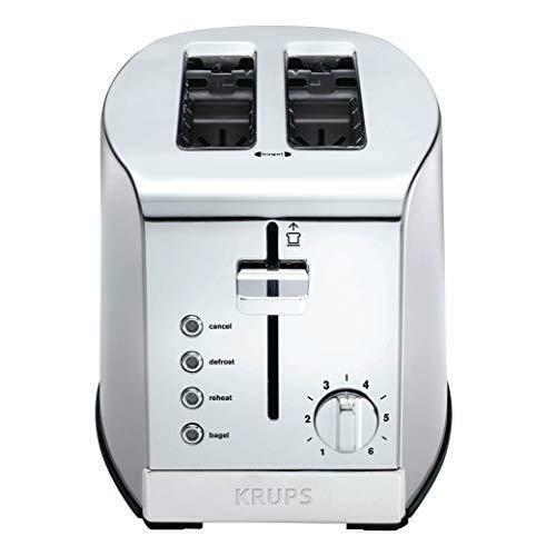KRUPS KH732D50 2 Slice Toaster Stainless Steel Toaster 5 Functions with