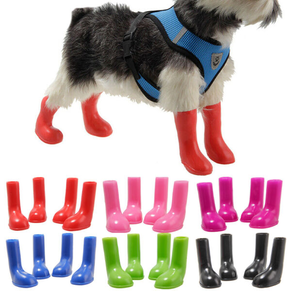Pet Dog Waterproof Shoes Puppy Protective Anti Slip Rain Boots Booties Outdoor $8.26