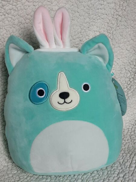 SQUISHMALLOWS Green Dog With Bunny Ears Easter Limited Edition 8quot; NWT $10.99