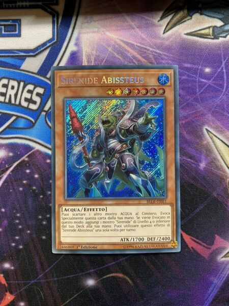Yugioh Mermail Abyssteus Secret Rare BLLR 1st Edition Near Mint ITALIAN