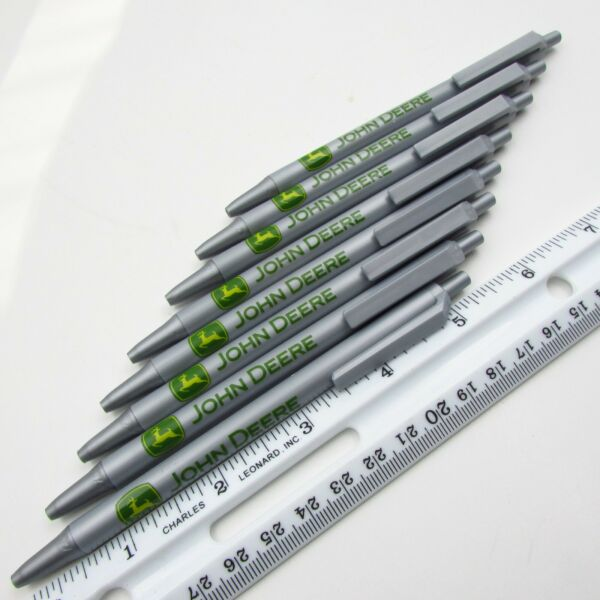8 NEW BIC John Deere Retractable Pens Black Ink Tractor Farmer Farm Lot Of 8