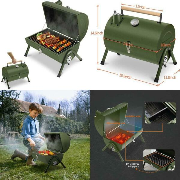 Acwarm Home Portable Charcoal Grill Small Bbq Smoker Grill Tabletop Barbecue C