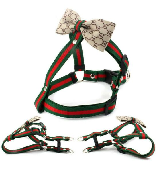 Luxury bowknot dog chest pull harness with the bow dog leash belt set XS SIZE $25.99