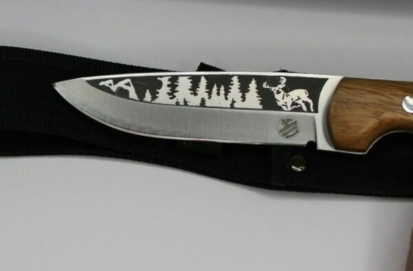 American Wildlife Collection Mystic Buck Fixed Blade Knife Laser Etched New