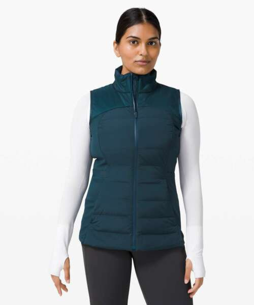 NWT Lululemon Down For it All Vest Submarine Size 6 $129.99