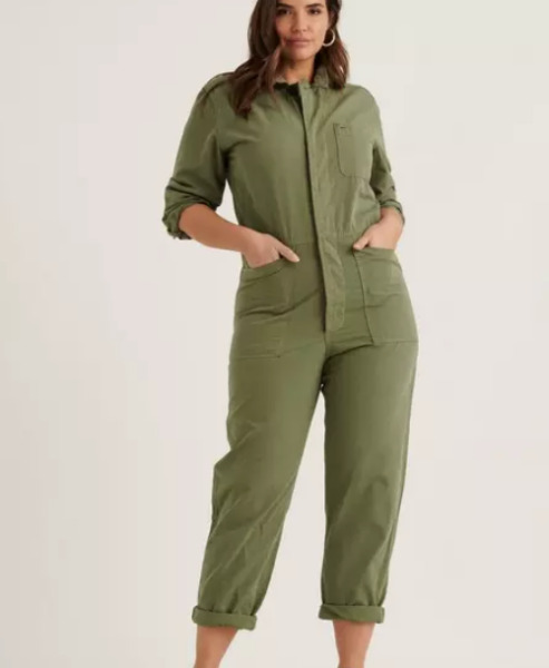 LUCKY BRAND XS Surplus Boiler Suit Denim Coveralls Mechanic Jumpsuit Overalls $88.00