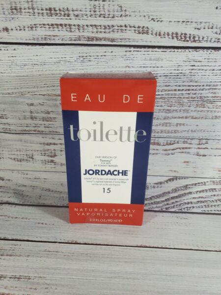 New Jordache No. 15 Version of Tommy for Men Eau De Toilette Spray 3 FL Oz 90 ml $11.99