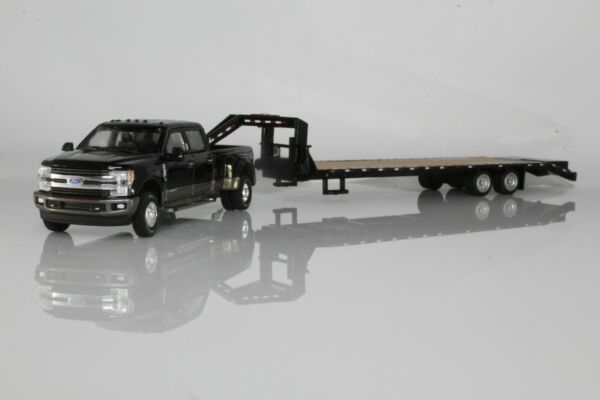 Ford F350 Dually King Ranch Gooseneck Trailer 1:64 Scale Diecast Model Truck $85.95