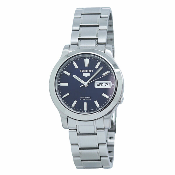 Seiko 5 Automatic SNK793 Blue Dial Stainless Steel Men#x27;s Watch $94.00