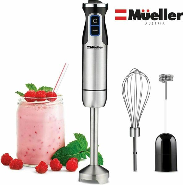 Mueller Multi Purpose Hand Blender Ultra Stick 500 Watt 9 Speed Immersion Mixer $39.95