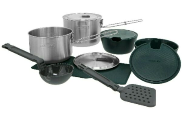 Stanley2 Pot Prep And Cookset Camping Outdoor Cooking Stainless Steel
