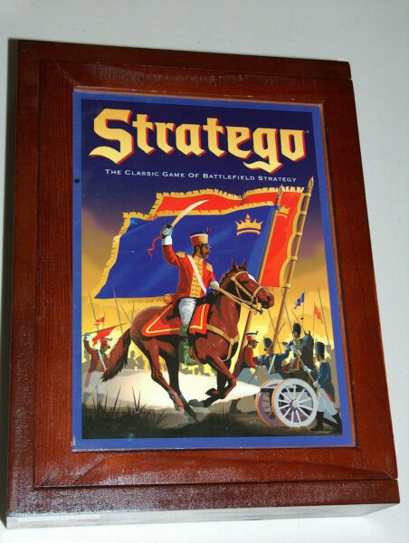 Stratego vintage strategy game of battlefield in wood box complete mint