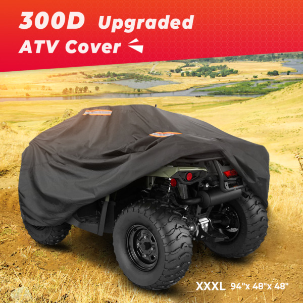 300D Heavy Duty ATV Cover Storage For Polaris Sportsman 450 570 850 800 500 XP