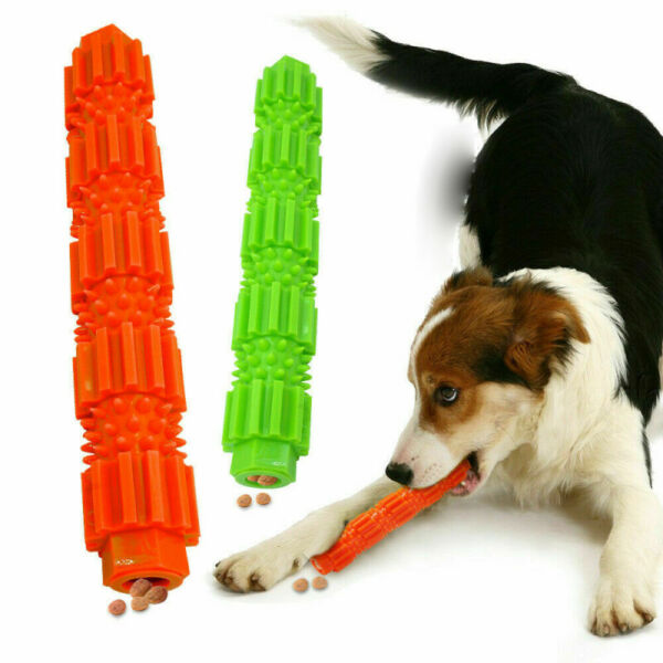 Durable Dog Chew Toys Rubber Bone Toy For Aggressive Chewers Indestructible NEW# GBP 3.29