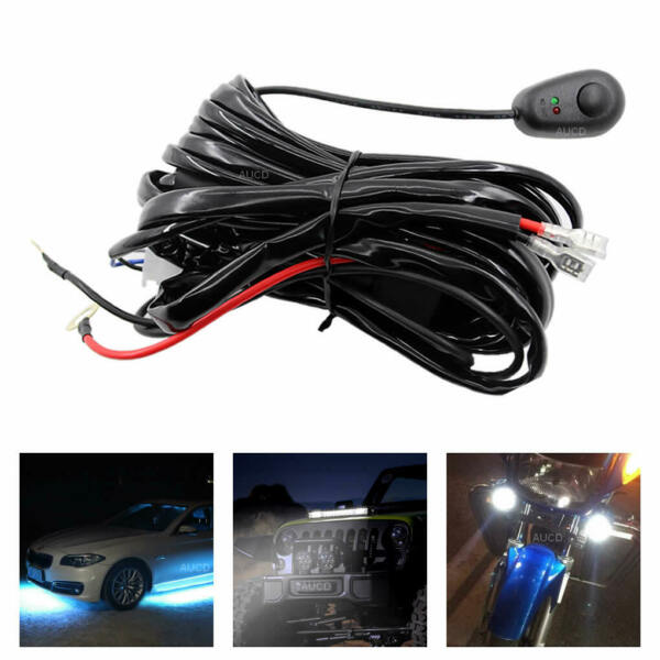 Wiring Harness Kit 12V 450W ON OFF Switch Relay Harness For LED Work Light Bar
