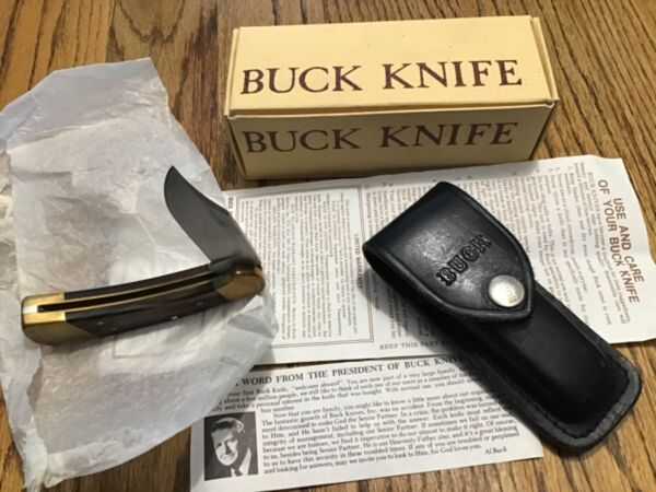 Buck Knife 112 Ranger 3 dot excellent condition with Sheath in Box