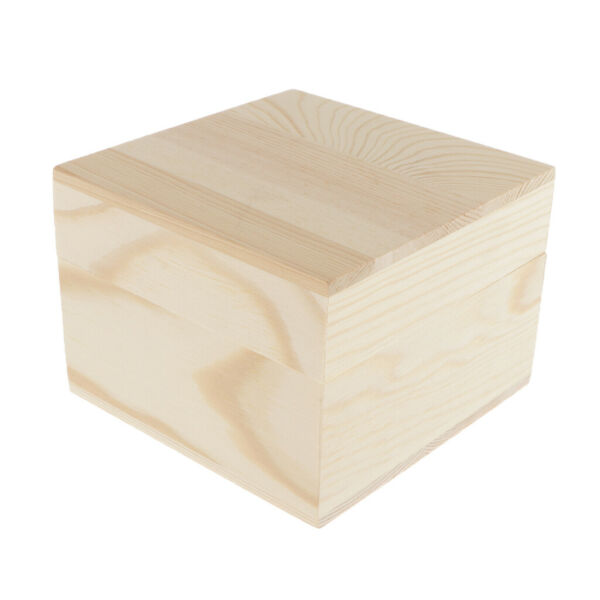 Large Box with Lid Wooden Box Chest Storage Box