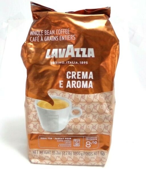 LavAzza Crema E Aroma Whole Bean Coffee 2.2 lb. Bag Intensity 8 Best By 05 22
