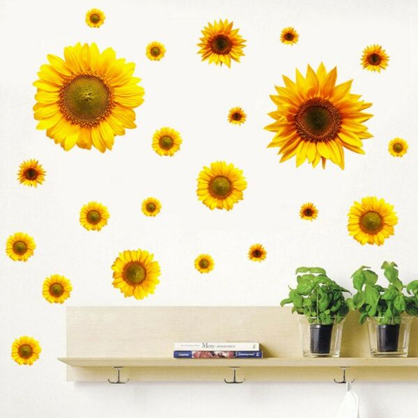Sunflower DIY PVC Removable Wall Art Stickers Vinyl Decal Room Home Mural Decor $10.92
