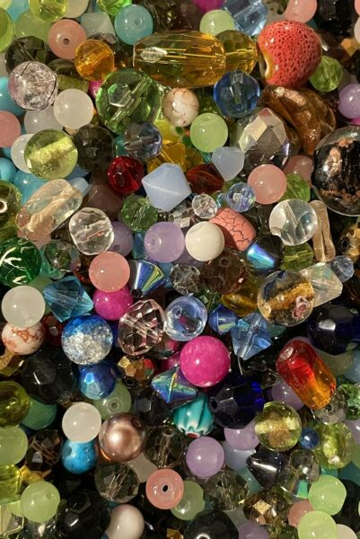 3oz Bead Soup Mix ALL GLASS HUGE VARIETY OF HIGH QUALITY BEADS 👑 BEST MIXED LOT $8.99