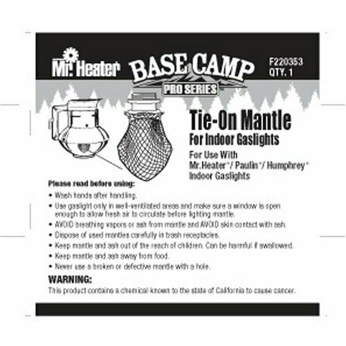 Mr. Heater Base Camp Pro Series Tie On Mantle for Indoor Propane Gaslights