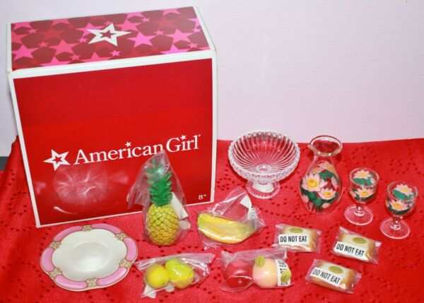 American Girl NEW MARIE GRACE amp; CECILE GLASSWARE amp; TREATS in BOX
