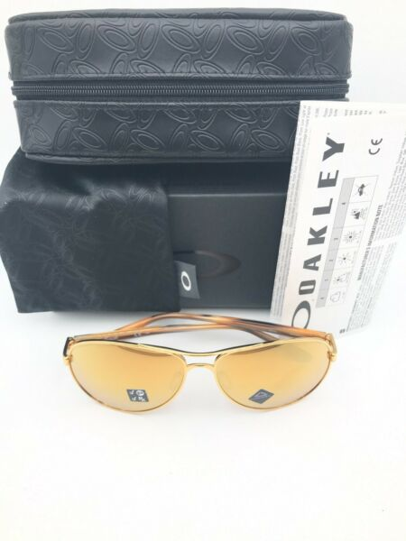 Oakley Sunglasses Feedback OO4079 3759 Gold Prizm Rose Gold Polarized NIB 37 59 $139.99
