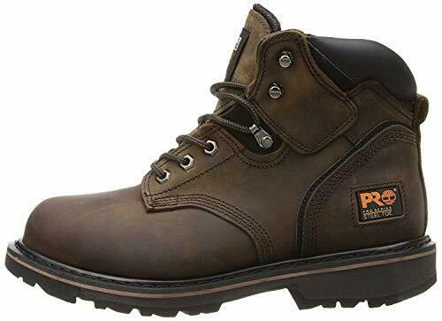 Timberland PRO Men#x27;s Pitboss 6quot; Steel Toe Boot Brown 10 D Medium $91.62