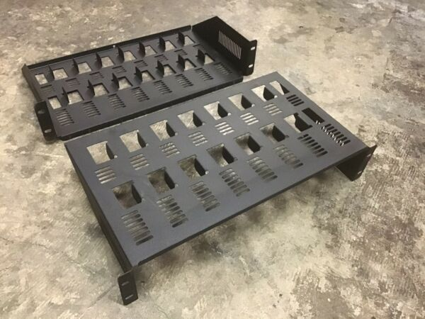 Cabletronix 8 receiver rack shelves Pair Top amp; Bottom $36.00