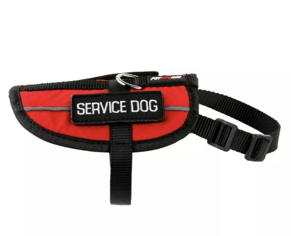 Petdogree Lightweight Reflective Service Dog Removable Patches Red XS $15.99