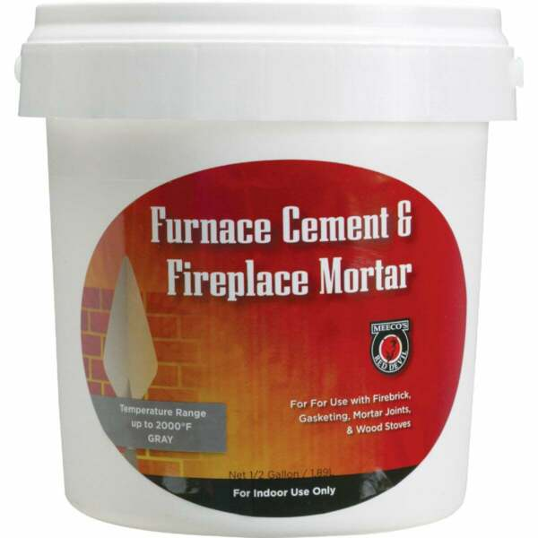 Meeco#x27;s Red Devil 1 2 Gal. Gray Furnace Cement amp; Fireplace Mortar 1355 1 Each $11.22